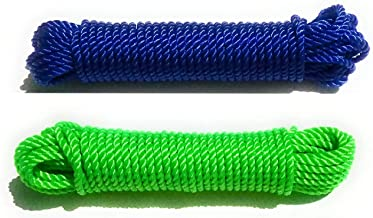 NYLON Rope or Multicolor Cloth Hanging Rope For Both Indoor And Outdoor Purpose Thin (2 pieces) 20 meters