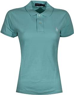 Women's Skinny Fit Pony Logo Polo Mesh Shirt