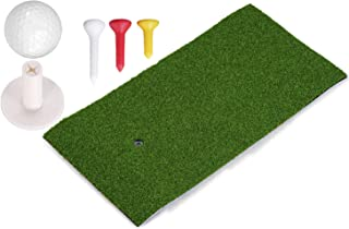 Blidece Residential Golf Hitting Mat Practice Mat Driving Chipping Putting Hitting Turf Training Equipment for Backyard Home Garage Outdoor Use, Includes Golf Tray, Rubber Tees and Ball