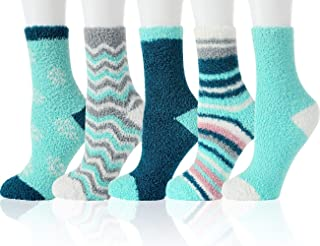 Fuzzy Cozy Socks Women Fluffy Plush Crew Slipper Sock For...
