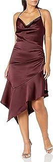Parker womens Edyth Sleeveless Drape Front Ruched SideMidi Dress Formal Dress