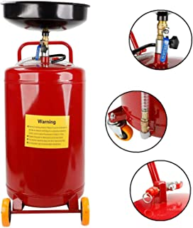ay-autoparts 20 Gallon Gas Fuel Diesel Caddy Transfer Tank Container Storage Waste Oil Drain Tank Air Operated Air Pressure Pump