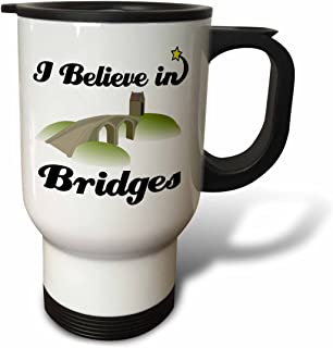 (410ml Travel Mug) - Dooni Designs I Believe In Designs - I Believe In Bridges - Travel Mug