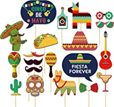 Fiesta Photo Booth Props- Perfect for Mexican Photo Booth Props- Fiesta party supplies-20 pcs