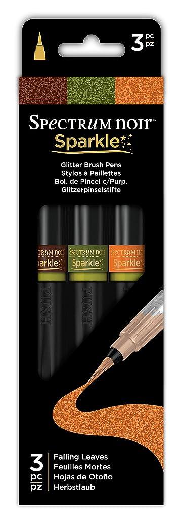 Spectrum Noir SPECN-SPA-FALL3 3 Piece Sparkle Fine Glitter Brush Pens Set, Falling Leaves, Pack of 3