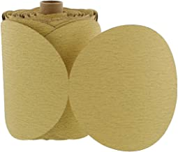 ABN 120 Grit Sandpaper Roll - 6 Inch Round Sanding Discs Aluminum Oxide Sandpaper Discs with Adhesive Back, 100Pc