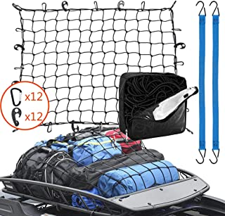 Roof Rack Cargo Net 3' x 4' Stretches to 6' x 8', 24...