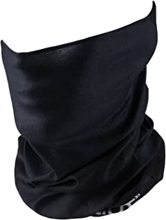 Outdoor Face Mask - Perfect for Motorcycle Riding, Skiing, ATV/UTV Riding, Fishing - Work as Sun Mask, Dust Mask, Neck Gaiter, Balaclava, Bandana - Breathable Seamless Microfiber (Plain Black)