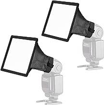 Neewer 2-Pack 6x5 inches/15x13 Centimeters Speedlite Softbox Flashlight Diffuser Kit for Canon 580EX II 600EX-RT, YongNuo YN560 III, Nikon SB-900 SB-910, Neewer TT560 TT520 TT660 and Other DSLR Flash