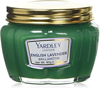 Yardley English Lavender Brilliantine, hair pomade, hold and shape hair, adds shine, subtle refreshing scent - 80 Gm