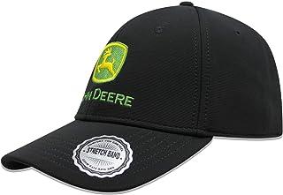 John Deere Mens 13080424BK Stretch Band Embroidered Logo Baseball Cap