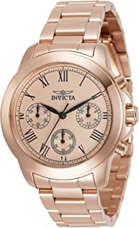 Invicta Women's Specialty Quartz Watch with Stainless Steel Strap, Rose Gold, 18 (Model: 34422)