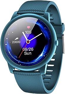 LTLJX Reloj Inteligente Pulsómetro Pulsera de Actividad con Monitor de Sueño Podómetro Impermeable IP68 Reloj Deportivo Mujer Hombre Smartwatch Compatible Android y iOS,Azul