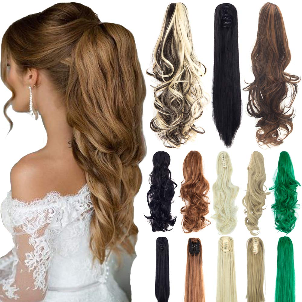 Straight Synthetic Ponytail Extension Hairpiece