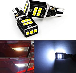 Dantoo 2 x T15 W16W 921 LED Reverse Light Bulbs 15 SMD Extremely Bright 6000K Xenon White Back Up Reverse LED Light Lamp