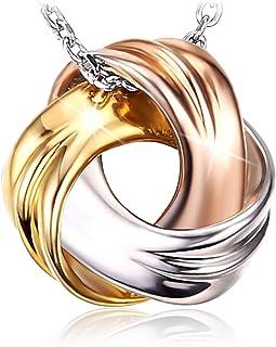 J.Rosée Ohrringe Damen, Creolen 925er Sterling Silber 5A Zirkonia Klassische 6 Stein Ohrschmuck\