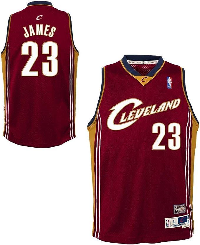 Genuine Stuff Lebron James Cleveland Cavaliers NBA – Camiseta de Soul Jersey – marrón,