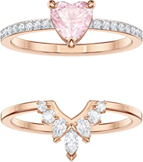 2bbcb97ab Swarovski One Ring Set, Multi-coloured, Rose gold plating
