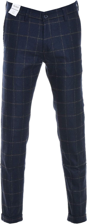 REHASH Men's PG363193NLMUCHAF003 bluee Wool Pants