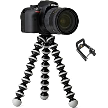 "techlife solutions Gorilla Tripod 10"" - Fully Flexible Foldable Octopus Medium Size Tripod Stand (10 Inch Height) for Mobile Smartphones & DSLR Cameras"