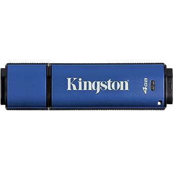 Kingston Digital 4GB Data Traveler AES Encrypted Vault Privacy 256Bit 3.0 USB Flash Drive (DTVP30/4GB)