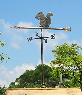 Brass Squirrel Weather Vane for Roof