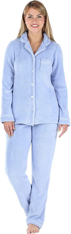 Frankie Johnny Women's New color Fleece 2-Piece Manufacturer OFFicial shop Pajama Loungewear Set