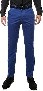 Men's Modern Fit Unhemmed Cotton Chino Dress Pants