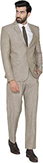 WINTAGE Men's 100% Pure Linen by Linen Club Wedding and Evening 2 Pc Suit