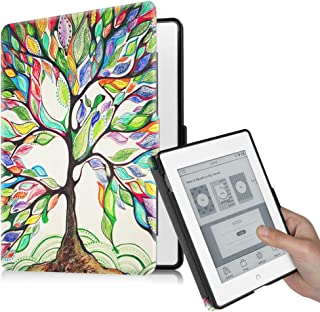 Fintie Nook GlowLight Plus (Previous Gen 6 inch - Barnes & Noble 2015 Model BNRV510) Case, Premium PU Leather Slim Cover, NOT Fit 7.8 Inch 2019 New Version, Love Tree