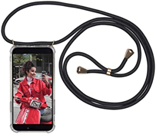 Necklace Phone Holder Compatible with iPhone Xs/iPhone X Black - Expatrié LOLA Lanyard Phone Case with Cord Strap, Transpa...