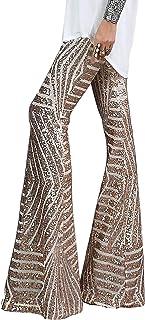 Women High Waist Wide Leg Palazzo Lounge Pants Sequin...