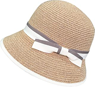 Hats Summer Outdoor Sports Women's Straw Hat Pure Color Cap and Cap Fashion (Color : Beige, Size : M)