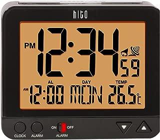 "hito 3.8"" Digital Battery Atomic Alarm Clock Bedside Travel Auto Time Set Auto Night.."