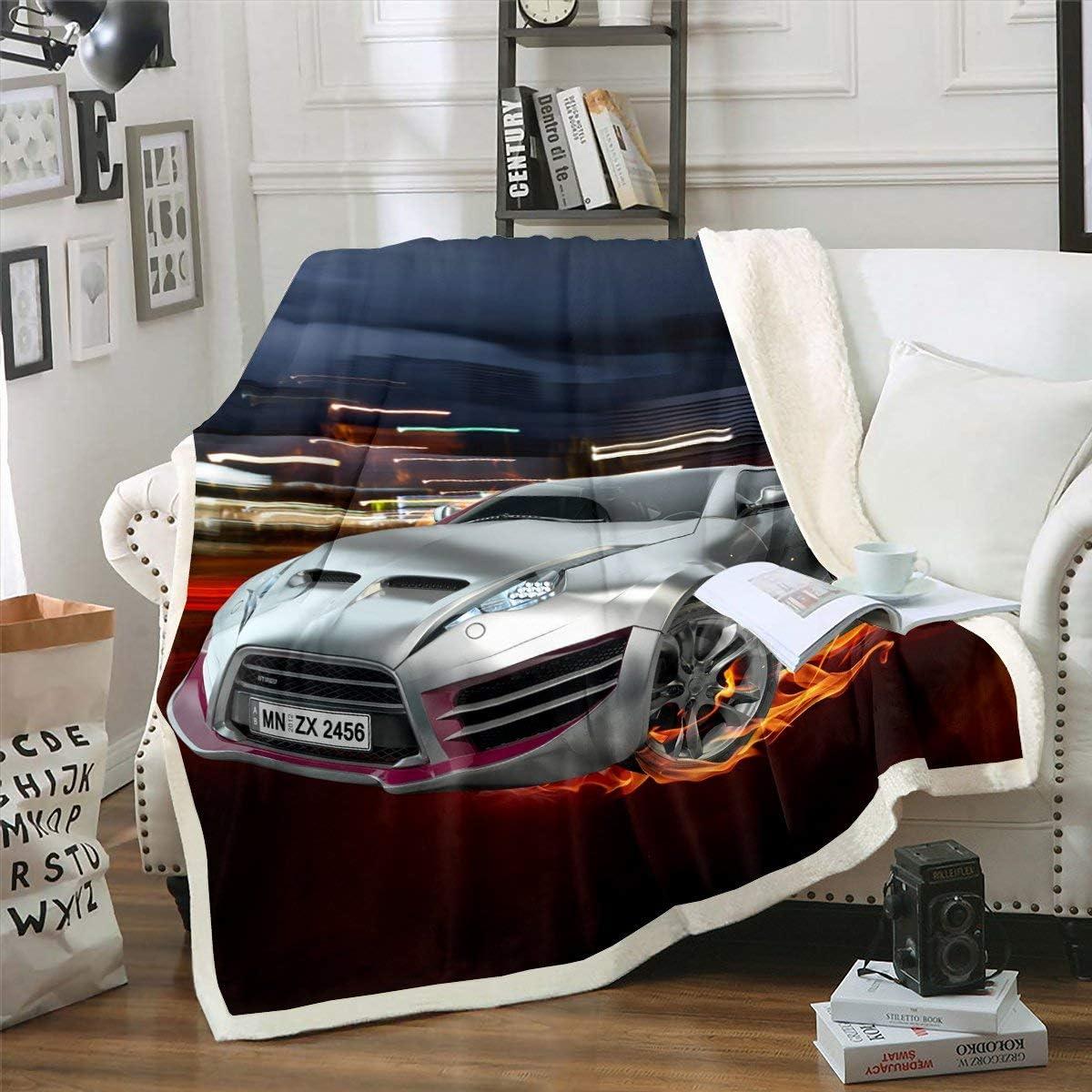 Erosebridal Race Car 1 year warranty Blanket Fixed price for sale Throw B Speed Plush Racing Cool