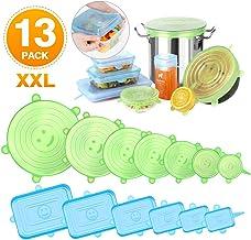 Newdora Tapas de Silicona Elásticas Reutilizables, 13