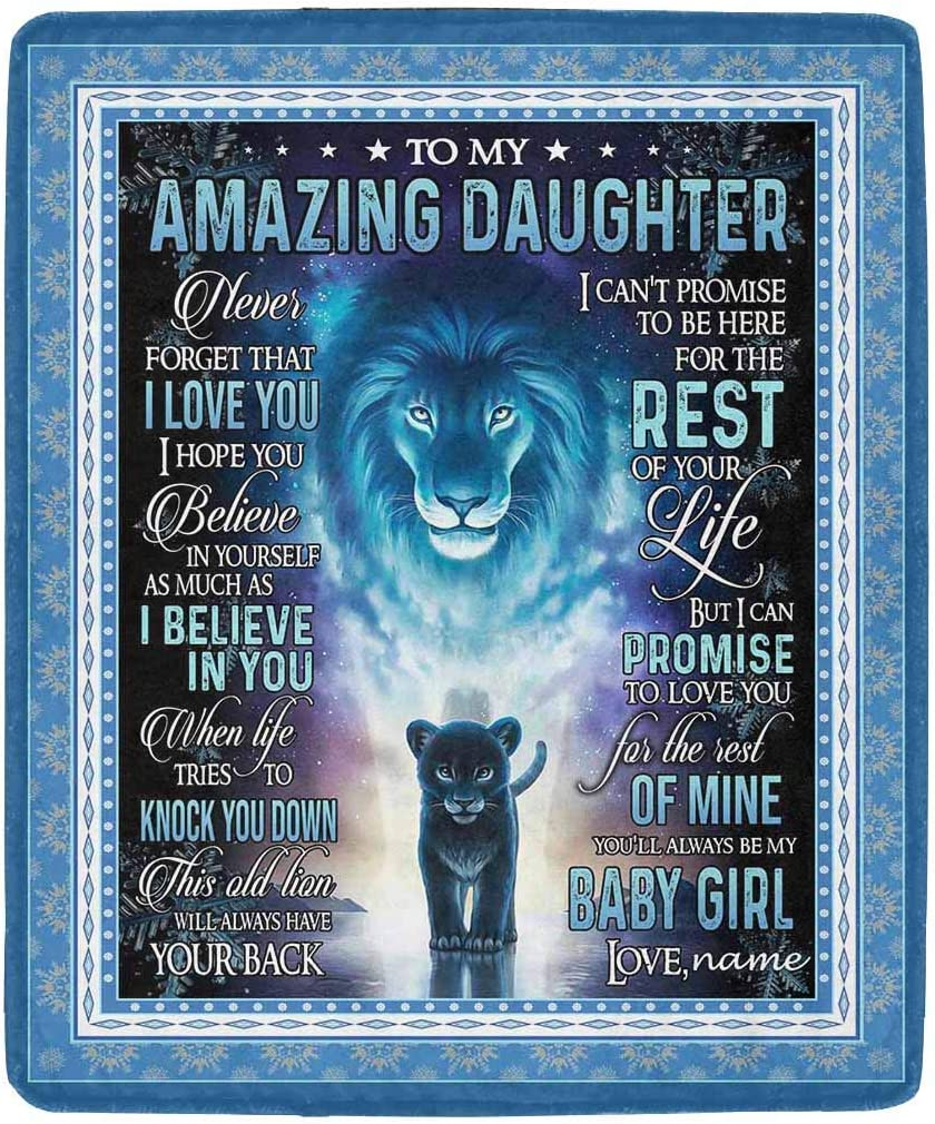 Super intense SALE LOSARON Personalized Daughter Blanket Love Amazing Popularity My Letter to