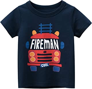 KANCOOL Toddler Boys T-Shirt Short Sleeve Tee for Baby Daily Tops Crewneck 100% Cotton