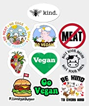 GTOTd Sticker for Go Vegan Be Happy (10 Pcs) Gifts Going Vagan Merchandise Party Supplies Go Vagan Stickers Decor Vinyl St...
