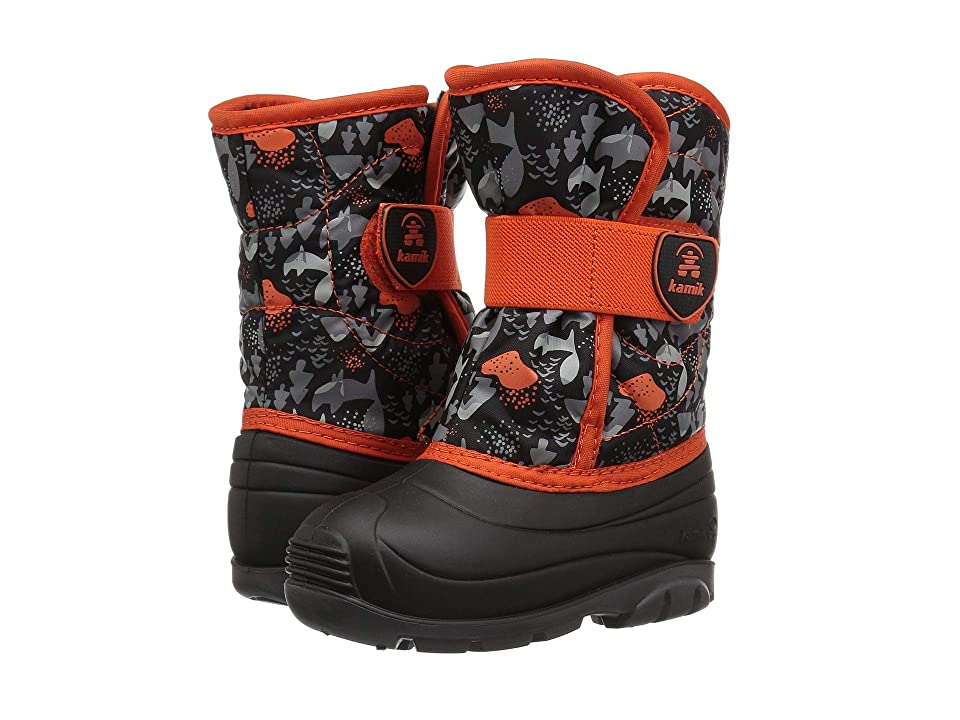 Kamik Kids Snowbug 4 (Toddler) (Black/Orange) Kids Shoes