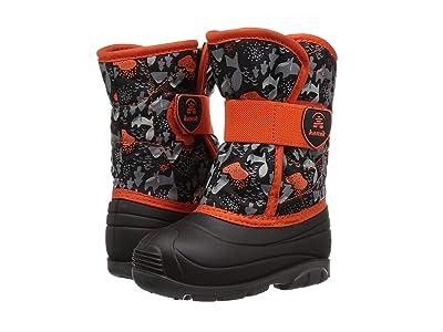 Kamik Kids Snowbug 4 (Toddler) (Black/Orange) Kids Shoes