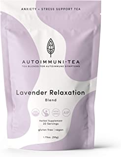 AIP Diet Herbal Tea - Autoimmune Protocol Anxiety & Stress Relief Tea Blend for AIP, Whole 30, Paleo friendly - AIP diet L...