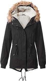 OLLIE ARNES Women`s Versatile Utilitarian Warm Anorak Drawstring Parka Jacket