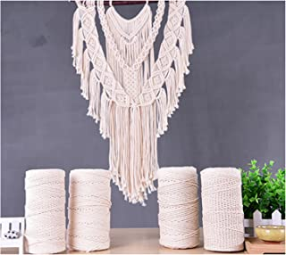 zhengjun Tapestry Braid Rope Handmade DIY Decorative Rope 3 Strand 100% Cotton Twisted Cord Rope Craft Macrame Artisan String