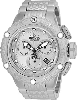 Invicta Men's Subaqua Quartz Watch with Stainless Steel Strap, Silver, 28.7 (Model: 26647)