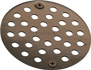 Moen 102763ORB 4-Inch Screw-In Shower Strainer Drain Cover, Oil Rubbed Bronze