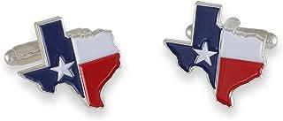 Texas Flag Lone Star Enamel Cufflinks + Tie Bar
