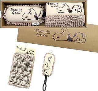センコー スヌーピー イージー&ブレイク ドライモップ・モップボール 専用箱入りセット ベージュ 86936