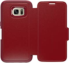 OtterBox STRADA SERIES Leather Wallet Case for Samsung Galaxy S7 - Retail Packaging - RUBY ROMANCE (FLAME RED/FLAME LEATHER)