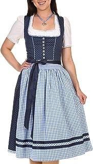 Turi Landhaus Turi Landhausmode Damen Dirndl Midi 65-70cm D821070 Heidi Rocklänge 70cm